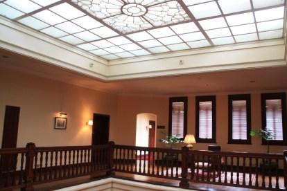 The skylight in the atrium.