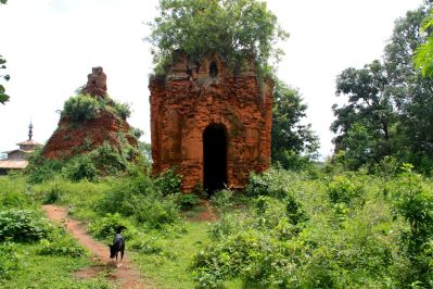 Indein Temple Complex Ruins and Dog