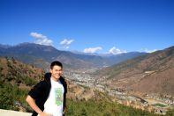 View of the capital Thimphu