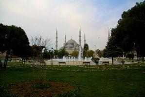 Istanbul Blue Mosque Garden