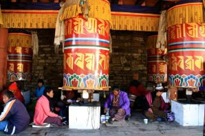 Memorial Chorten Prayer Wheels Thimphu Bhutan