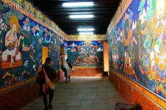 Paro Dzong Hallway Bhutan