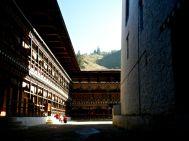 Paro Dzong Monks in Sun Bhutan