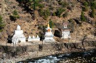 Stupas in three styles