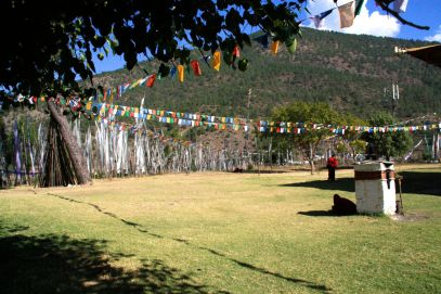 Chimi Lhakhang Flags
