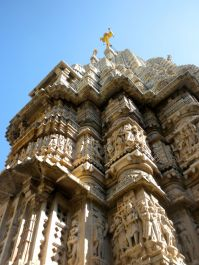 Jagdish Temple Udaipur Carvings to Top