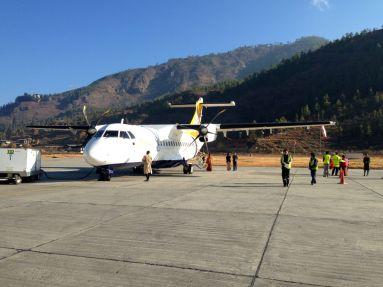 Boarding in Paro, Bhutan