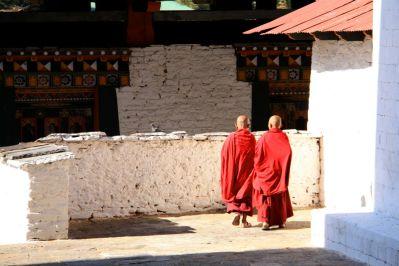 Punakha Dzong Bhutan Monks