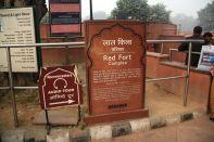 Red Fort Delhi Sign