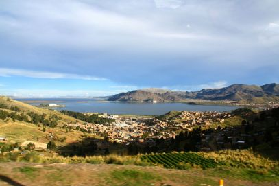Our first glimpse of Puno and Lake Titicaca!
