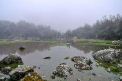 Lares Trek Day 1 Lake in fog