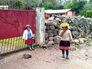 Lares Trek Day 2 Village Girls