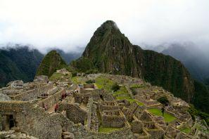 Machu Picchu Down View Huayna Picchu