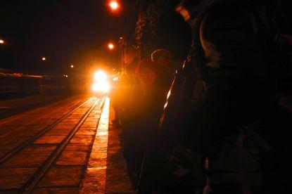 Ollantaytambo Train at Station