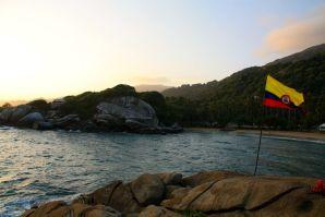 Park Tayrona El Cabo Colombia Flag