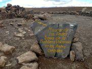 Patapampa Mirador de Los Andes Sign