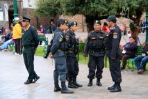 Plaza de Armas Cusco Police