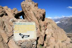 Colca Canyon Sign