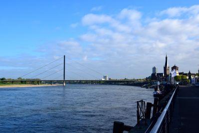 Dusseldorf Rhine Promenade View