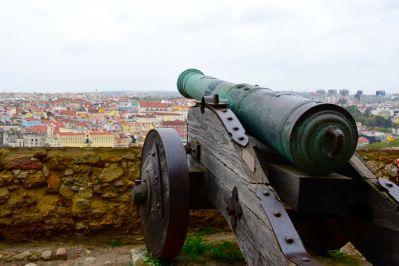 Lisbon Castelo de St Jorge Cannon View