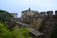 Lisbon Castelo de St Jorge Castle Walls view