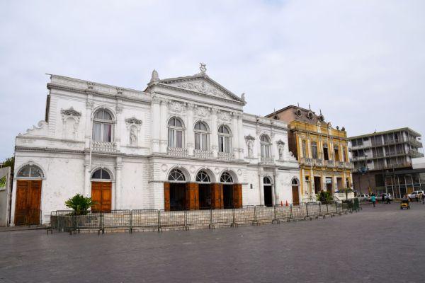Iquique Baquedano Street Clock Tower Buildings