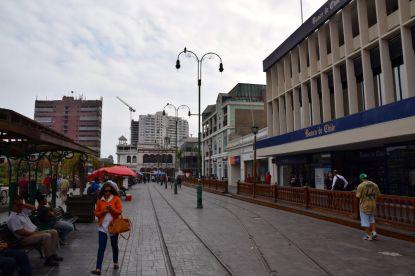 Iquique Baquedano Street Tram Tracks