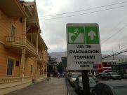Iquique Baquedano Street Tsunami Evacuation Route