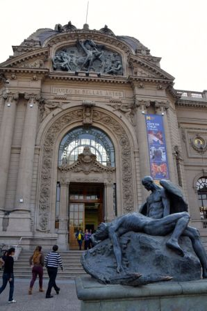 Santiago Museo Bellas Artes Entrance