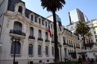 Santiago street scene downtown building