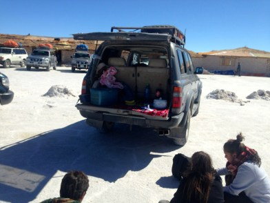 Uyuni Salt Flats Hotel Car Lunch