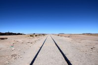 Uyuni Train Cemetery Rail Tracks