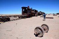 Uyuni Train Cemetery Wheel