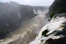 Iguacu Falls Down River
