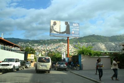 Port-au-Prince Street view onto slums