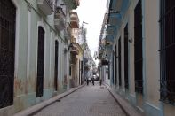 Havana Old Town Street with Cannons