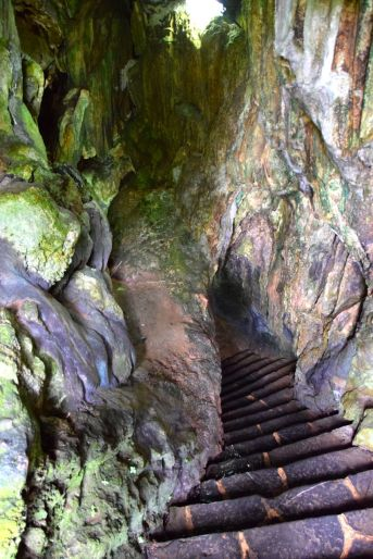 Stairs down to the Cuevas del Indio