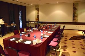 A private conference room