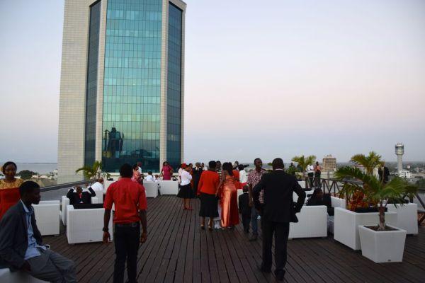 A wedding on the terrace