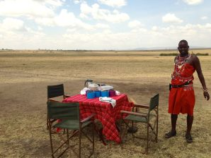 Sarova Mara Game Camp Restaurant Bus Picnic Table