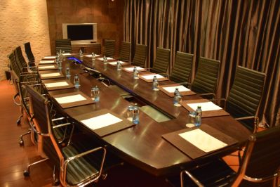 A number of different configurations for conference rooms