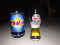 Sipping on a Primus in a bar