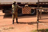 Ugandan border police