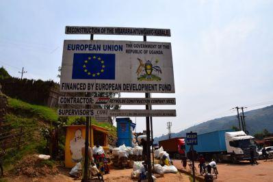Uganda Border Sign