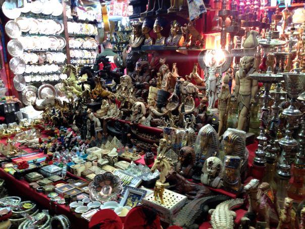Souvenirs galore at the souk.