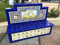 Spanish tiled benches