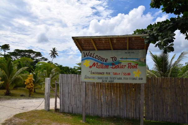 vanuatu-santo-tour-million-dollar-point-sign