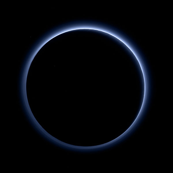 Blue Haze around Pluto
