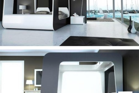 luxury hi tech bed with built in tv | luxury bed design