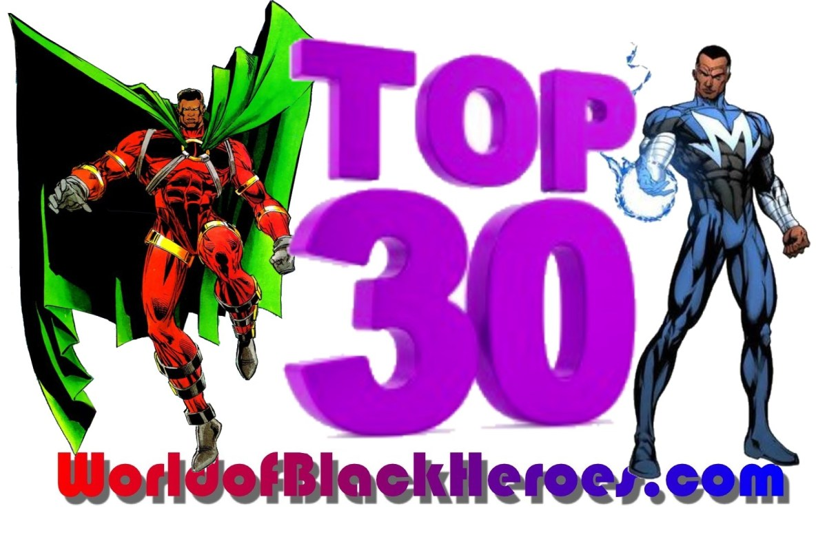 Top 30 Black Superheroes-Traffic Edition